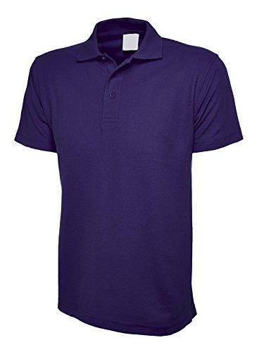 Uneek 220Gsm Unisex Classic Polo Shirt - Purple - Large