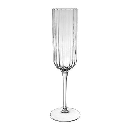 Côté Table 28069 Casade Flûte Verre Cristallin Transparent 21 cl 6,5 x 6,5 x 24 cm