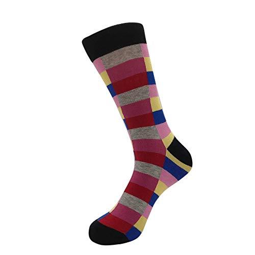 Bayliney 1 Paar Weiche Strumpfhosen Socken Winter Unisex BeiläUfig Baumwolle Socken Mode Herren Strümpfe Mode Weich Kniestrümpfe Herbst Winter Socken fit Denim Shorts(B) -