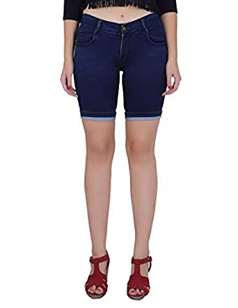 Forth Women's Stretchable Denim Pedal Shorts