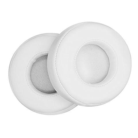 Babysbreath 1 paire de coussinets d'oreille de rechange Coussin pour Beats PRO / DETOX Casque Casque blanc