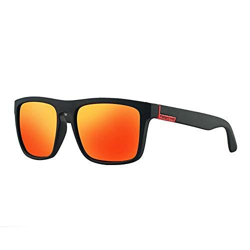 Ruanyi Polarisierte Sonnenbrillen, Radfahren Sonnencreme UV400 Vollformat Freizeit Style Sonnenbrillen für Männer (Color : Red red Label)
