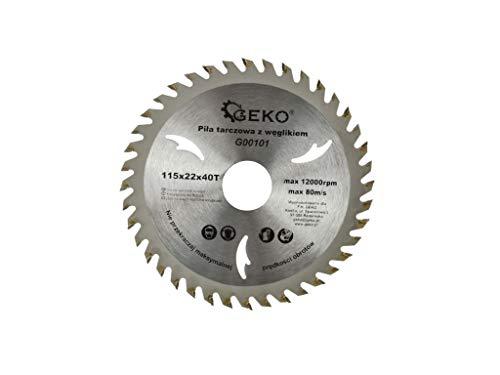 Kreissägeblatt 115 x 22,2mm mit 40 Zähnen TCT Sägeblatt für Kreissäge Handkreissäge zum schneiden von Holz OSB Platten Sperrholz und Kunststoffen