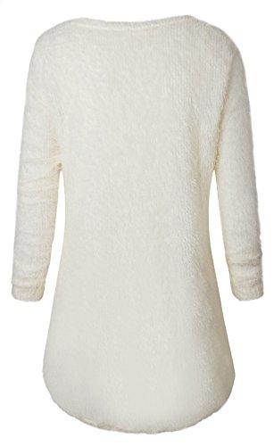 u-shot donna invernale a maniche lunghe Loose casual jumper tops camicetta Off-White
