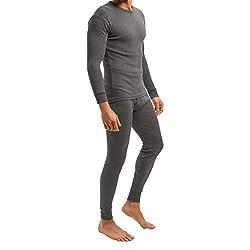 MT Men's Ski & Thermal Underwear Set - Warm Underwear Long Sleeves Thermo Light - Anthracite M
