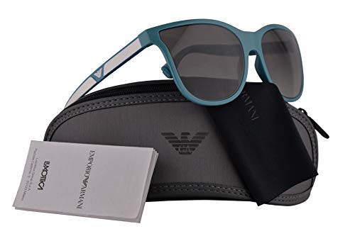 Emporio Armani Frau EA4112 Sonnenbrille w/Grau Gradient Lens 57mm 566311 EA 4112 Azurblau groß