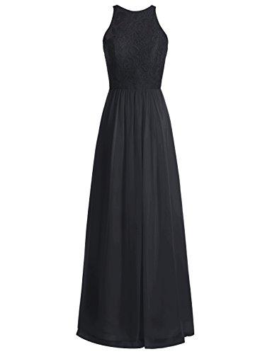 Bbonlinedress Robe de cérémonie Robe de demoiselle d'honneur longueur ras du sol Noir