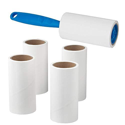1 X Ikea Fusselrolle, inkl. 4 klebrige Ersatz-Aufsätze, schnelles und einfaches Entfernen von Tierhaaren, Staub und Flusen von Kleidungsstücken/Möbeln/Autositzen