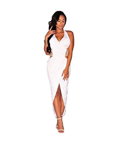 Generic - Robe - Cocktail - Sans Manche - Femme noir noir 38, 40 Blanc