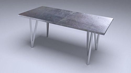 1 Stück Tischgestell Edelstahl-Design, Tischkufe, Tischbeine, (geschliffen) Achtung! Andere Modelle bei unseren anderen Auktionen!