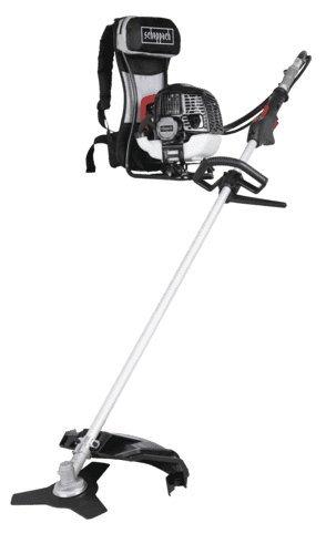Scheppach 5910707903 Sense / Motorsense / Freischneider | 2 in 1 Backpack-Motorsense, leichte Kontrolle durch Stopp-Schalter und Gashebelsperre, Tipp-Automatik Fadenverlängerung | 2-Takt / 51,7cm³