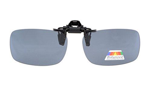 Eyekepper Aufklappbare Sonnenbrille Polarisierte 59x39 MM 3-Pack Metallische Brille Clip Grey Lens
