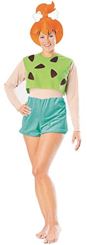 (Pebbles Flintstone Adult Fancy dress costume Large)