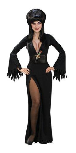 Erwachsenen Elvira Kostüm Für - Generique - Elvira - Herrscherin der Dunkelheit-Kostüm für Erwachsene