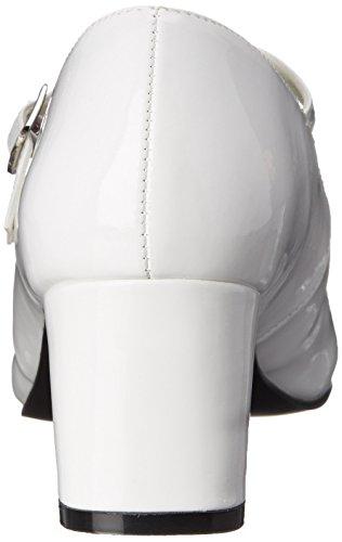 Pleaser Schoolgirl 50, Scarpe Con Tacco Donna Bianco (White (Wht Pat))