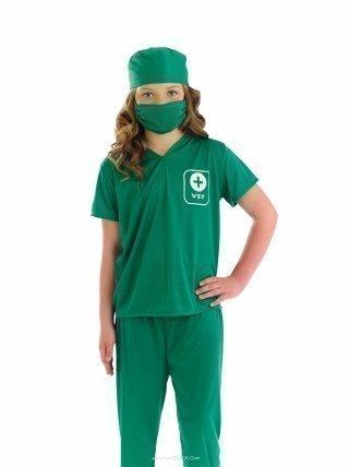 Fancy Me Mädchen Jungen Kinder Kinder Vet Beruf Krankenschwester büchertag Kostüm Kleid Outfit - Grün, 10-12 Years