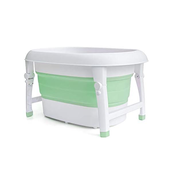 AIYE Plastic Folding Bathtub,Baby Bath Tub,Portable Collapsible Bathtub,Children's Folding Shower Tray,Bathtub,80 * 53 * 43cm Big Space,3 Colors 3