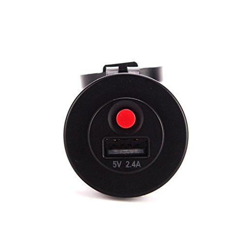 Baoblaze USB-Ladegerät-Port-Sockel-Stromversorgung 2.4A Mit Sicherheitsschalter Für Auto-Boot