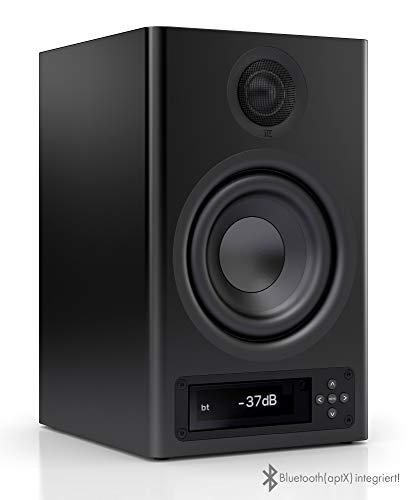 Nubert nuPro X-3000 Bluetooth-Regallautsprecher schwarz (aktiv) mit kabelloser Lautsprecher-Verbindung und App-Steuerung | 1 Stück
