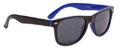 Blau Wayfarer Sonnenbrille zweifarbig Kühle Farbtöne Kinder Junge Mädchen 100% UV Protect 66