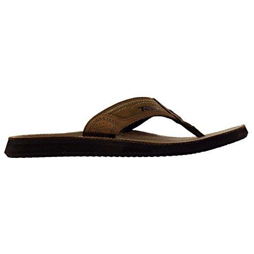 Teva Herren Benson Sandalen Strand Sommer Schuhe Freizeit Zehentrenner Braun 10