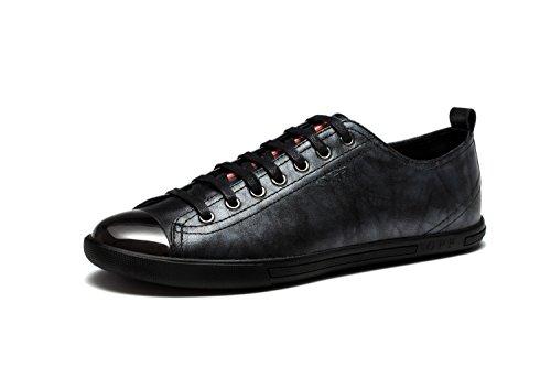 OPP Classique Sneakers Chaussures de Ville en Cuir à Lacets Homme