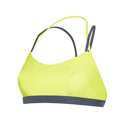 Speedo Damen Ultra Fizz Crop Top Swimwear, Lime Punch/Oxid Grey, XXS