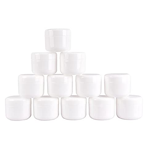 Oshide 12Pcs/Set 50ml Travel Split Charging Bottle Leak Proof Design Ointment Cosmetic Moisturizing Lotion Jar Pot