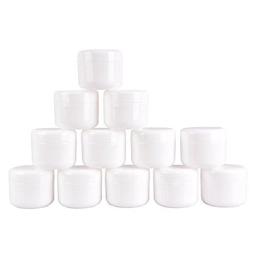 12PCS 50 grammes de Boîte Vide de Rangement Maquillage Crème Gel Pots, Sous-Boîte, Boîte Cosmétiques, Sous-Embouteillée, avec la Couverture