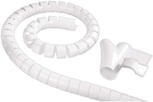 """Hama Kabelschlauch """"Easy Cover"""" (flexibler Kabelkanal mit Einfädelhilfe, Länge 1,5 m , Spiralschlauch Durchmesser 30 mm) weiß"""