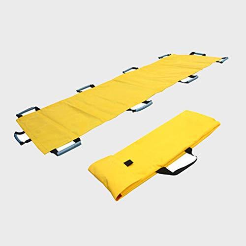 Faltender weicher Bahre, Notfallrettungs-weicher Bahre für Krankenhaus, Klinik, Haus, Sportstätten, Krankenwagen, 195 × 70 cm,Yellow