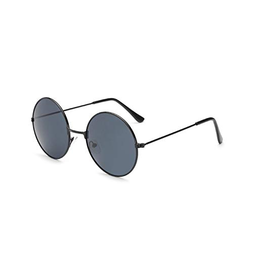 Sportbrillen, Angeln Golfbrille,Ladies Fashion Round Mirror Sunglasses Women Men Vintage UV400 Protection Sun Glasses Retro Eyeglasses Oculos De Sol 4066 x09 Black