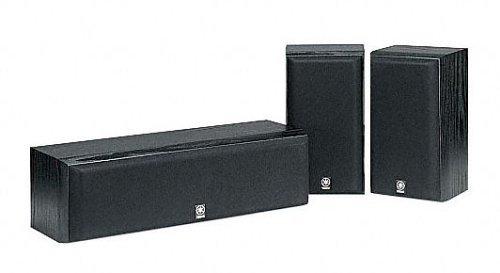 Yamaha NS P 60 Lautsprecher Set der Serie HT (2 Regallautsprechern und 1 Centerlautsprecher) schwarz