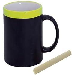 Taza de Pizarra Cerámica En Cajita Individual Amarilla