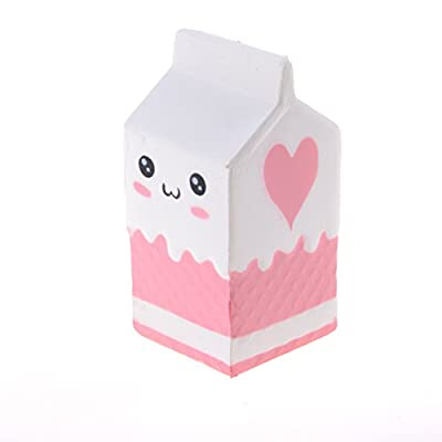 1 Pcs Jumbo Milk Box Squishies,Kawaii Slow Rising Squishy Milk Bottle Scented Charm Toy To Relieve Stress by Sdetter