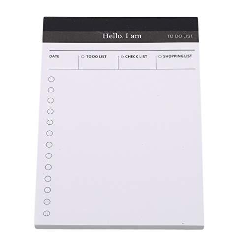 ock Papier Tagebuch Planer, Notizblock Schreibtisch to Do Liste, Schule Büro Schreibwaren to-do-Liste ()