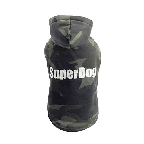 Kostüm Englische Bulldogge - Dragon868 PET Warme Kleidung Welpe gestreift Camouflage Hood Sweatshirt Herbst Und Winter