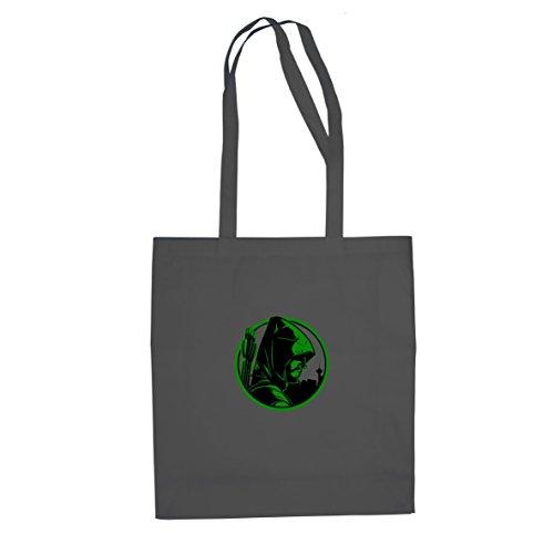 Planet Nerd Oliver - Stofftasche/Beutel, Farbe: grau (Green Arrow Kostüm Staffel 4)