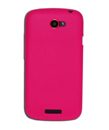 Luxburg®® In-Colour Design Schutzhülle für HTC One S in Farbe Pink/Rosa, Hülle Case aus Silikon