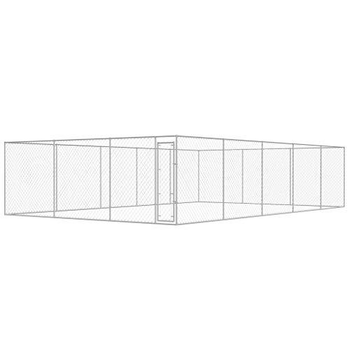 WT Trade Premium XXL Outdoor-Hundezwinger für Draußen mit Tür | 10x6 m | Hundehütte Hundekäfig Hundehaus Hütte | außen Auslauf (10 X 10 X 6 Hundehütte)