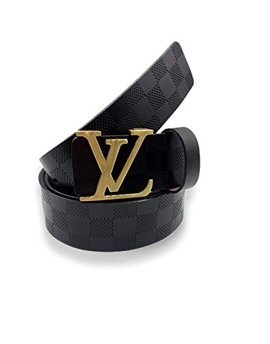 LEATHER STYLE STORE Men's Leather Belt (Black, Free Size)