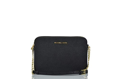 Michael Kors Jet Set Large East West Crossbody Black Saffiano