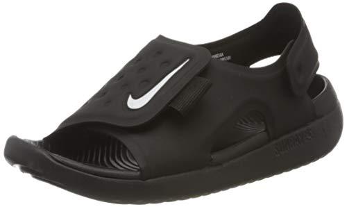 Nike Sunray Adjust 5 GS/PS, Zapatos de Playa y Piscina para Niños, Negro Black/White 001, 32 EU