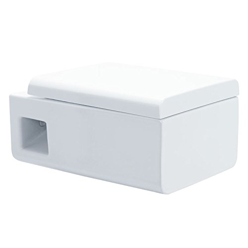 EAGO Hänge-WC WD333P (Tiefspüler) Toilette mit geschlossenem Unterspülrand, Soft-Close-Deckel und Nano-Beschichtung (Wc-sitz Eago)