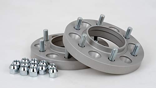 Distanziali in alluminio 2 pezzi (21 mm per disco/42 mm per asse) con sigillo TÜV