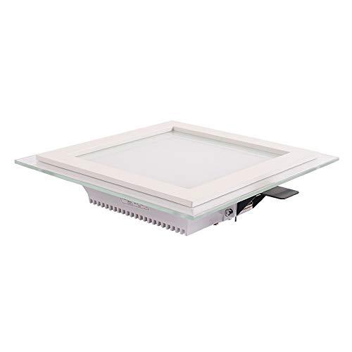 Modenny Cristal cuadrado Empotrable Foco empotrado Luz de techo Foco LED Foco...