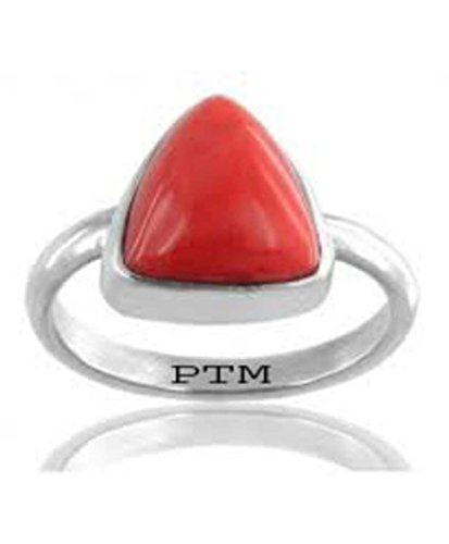 PTM Certified Coral (Moonga) Sterling 92.5 Silver Ring 6.25 Ratti or 5.69 Carat for Gents & Ladies-A1262523