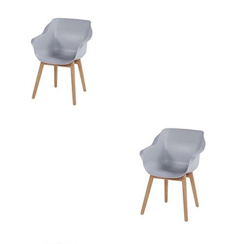 Hartman Sophie 2 Stück Armchair Teak nat/Grey Kunststoff 21688206