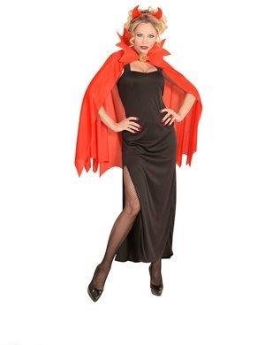 Ladies Red Flame Devil Girl Halloween Fancy Dress Costume (Red Devil Girl)