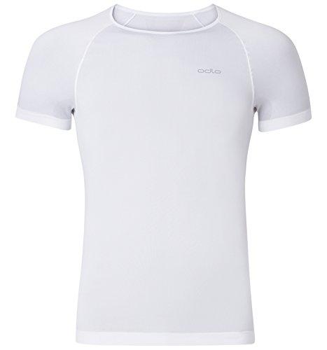 Odlo Herren Unterhemd Shirt Short Sleeve Crew Neck Evolution X-Light, White, M